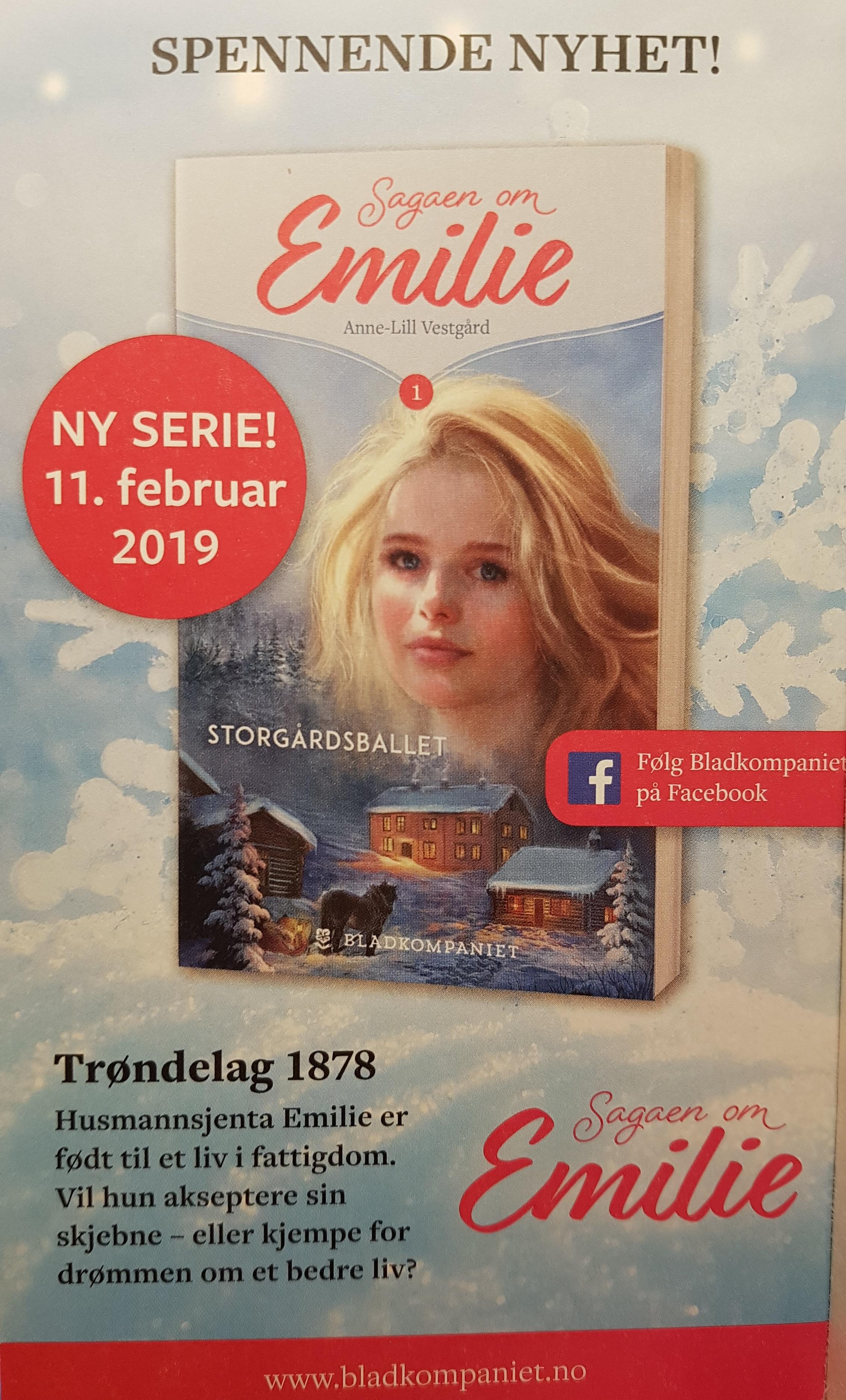 Sagaen om Emilie av Anne-Lill Vestgård